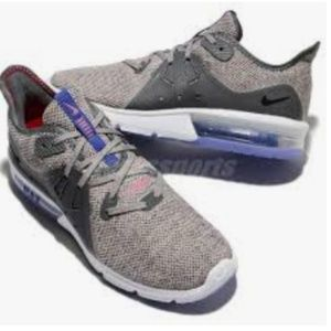 Womens Nike Air Max Sequent 3 Sneakers Gray/Purple